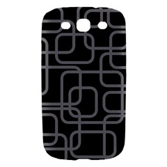 Black and gray decorative design Samsung Galaxy S III Hardshell Case