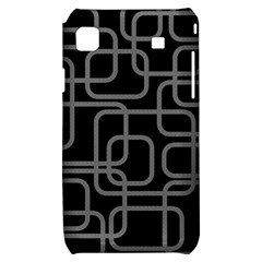 Black and gray decorative design Samsung Galaxy S i9000 Hardshell Case