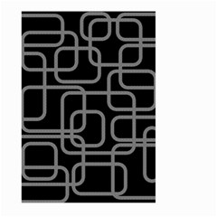 Black and gray decorative design Large Garden Flag (Two Sides)
