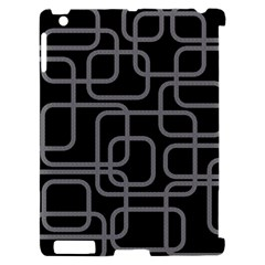 Black and gray decorative design Apple iPad 2 Hardshell Case (Compatible with Smart Cover)