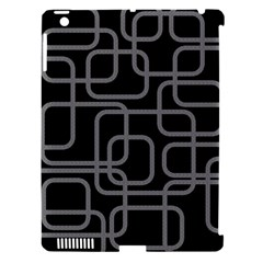 Black and gray decorative design Apple iPad 3/4 Hardshell Case (Compatible with Smart Cover)