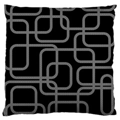 Black and gray decorative design Large Cushion Case (Two Sides)
