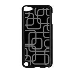 Black and gray decorative design Apple iPod Touch 5 Case (Black)