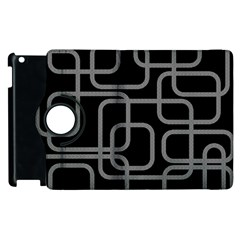 Black and gray decorative design Apple iPad 2 Flip 360 Case