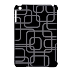 Black and gray decorative design Apple iPad Mini Hardshell Case (Compatible with Smart Cover)