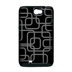 Black and gray decorative design Samsung Galaxy Note 2 Hardshell Case (PC+Silicone)