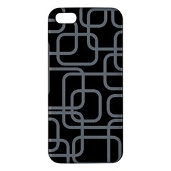 Black and gray decorative design Apple iPhone 5 Premium Hardshell Case