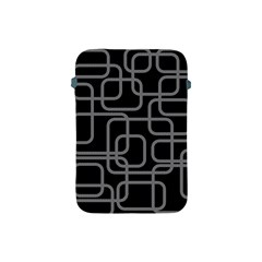 Black and gray decorative design Apple iPad Mini Protective Soft Cases