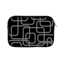 Black and gray decorative design Apple iPad Mini Zipper Cases