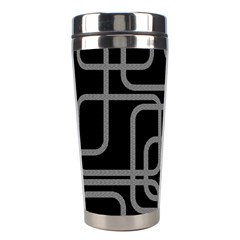 Black and gray decorative design Stainless Steel Travel Tumblers