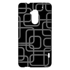 Black and gray decorative design HTC One Max (T6) Hardshell Case