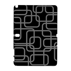 Black and gray decorative design Samsung Galaxy Note 10.1 (P600) Hardshell Case