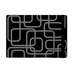 Black and gray decorative design iPad Mini 2 Flip Cases