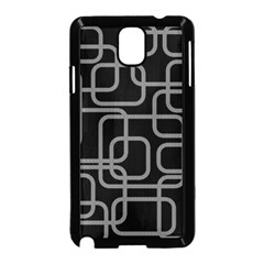 Black and gray decorative design Samsung Galaxy Note 3 Neo Hardshell Case (Black)