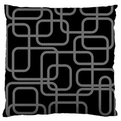 Black and gray decorative design Standard Flano Cushion Case (One Side)