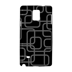 Black and gray decorative design Samsung Galaxy Note 4 Hardshell Case