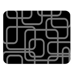 Black and gray decorative design Double Sided Flano Blanket (Large)