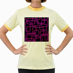 Purple and black elegant design Women s Fitted Ringer T-Shirts