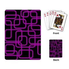 Purple and black elegant design Playing Card