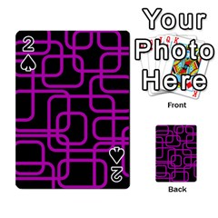 Purple and black elegant design Playing Cards 54 Designs