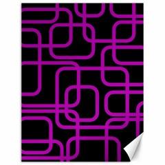 Purple and black elegant design Canvas 12  x 16