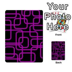 Purple and black elegant design Multi-purpose Cards (Rectangle)