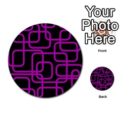 Purple and black elegant design Multi-purpose Cards (Round)