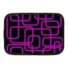 Purple and black elegant design Netbook Case (Medium)