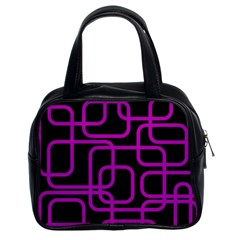 Purple and black elegant design Classic Handbags (2 Sides)