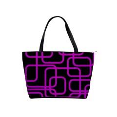 Purple and black elegant design Shoulder Handbags