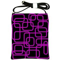 Purple and black elegant design Shoulder Sling Bags