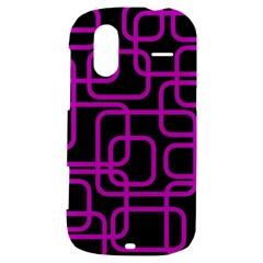 Purple and black elegant design HTC Amaze 4G Hardshell Case