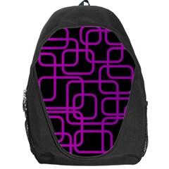 Purple and black elegant design Backpack Bag