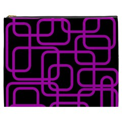 Purple and black elegant design Cosmetic Bag (XXXL)
