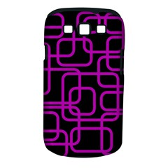 Purple and black elegant design Samsung Galaxy S III Classic Hardshell Case (PC+Silicone)