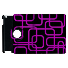 Purple and black elegant design Apple iPad 3/4 Flip 360 Case