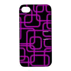 Purple and black elegant design Apple iPhone 4/4S Hardshell Case with Stand