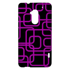 Purple and black elegant design HTC One Max (T6) Hardshell Case