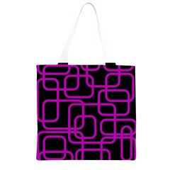 Purple and black elegant design Grocery Light Tote Bag