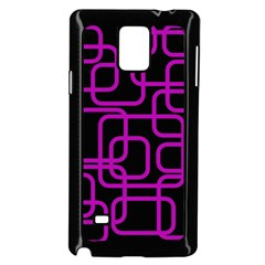 Purple and black elegant design Samsung Galaxy Note 4 Case (Black)