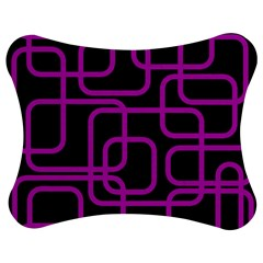 Purple and black elegant design Jigsaw Puzzle Photo Stand (Bow)