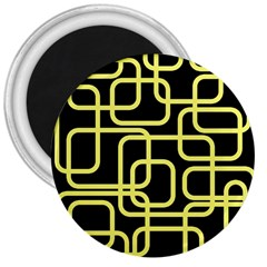 Yellow and black decorative design 3  Magnets