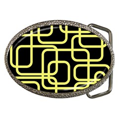 Yellow and black decorative design Belt Buckles