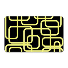 Yellow and black decorative design Magnet (Rectangular)
