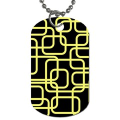 Yellow and black decorative design Dog Tag (Two Sides)