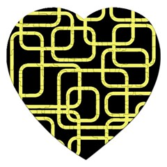 Yellow and black decorative design Jigsaw Puzzle (Heart)