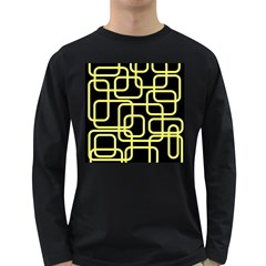 Yellow and black decorative design Long Sleeve Dark T-Shirts
