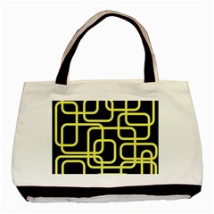 Yellow and black decorative design Basic Tote Bag (Two Sides)
