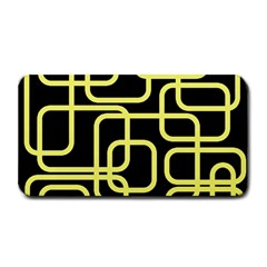 Yellow and black decorative design Medium Bar Mats