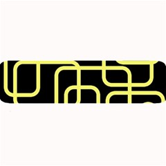 Yellow and black decorative design Large Bar Mats